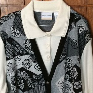 GUC Alfred Dunner blouse with vest, size 3x